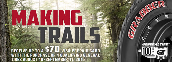 General Making Trails Rebate $70